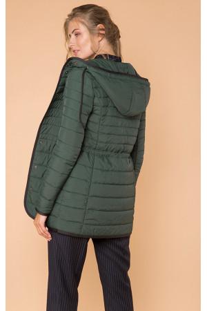 Жіноча куртка «Лійна» зеленого кольору