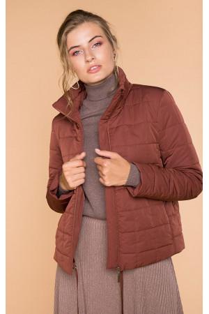 Женская куртка «Аврора» коричневого цвета