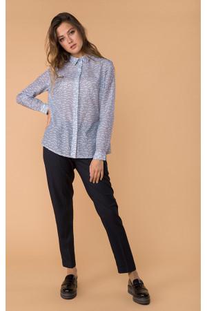 Шовкова сорочка «Леванта» блакитного кольору