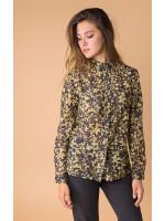 Шелковая рубашка «Леванта» цвета хаки
