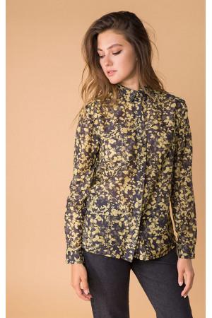Шовкова сорочка «Леванта» кольору хакі