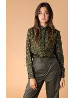 Шелковая рубашка «Иветта» зеленого цвета
