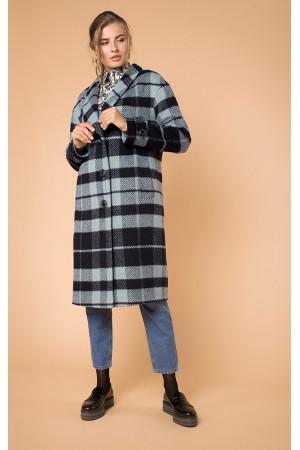 Пальто женское «Жанет» синего цвета