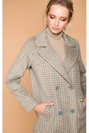 Пальто женское «Сармите» бежевого цвета