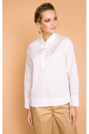 Блуза «Бенедикта» білого кольору