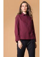 Блуза «Бенедикта» бордового цвета