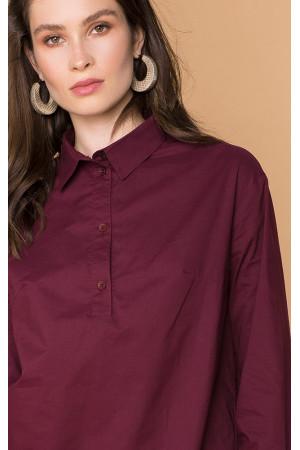 Блуза «Бенедикта» бордового кольору