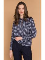 Блуза «Лиззи» синего цвета