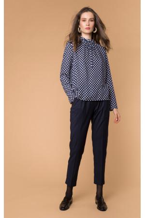 Блуза «Ліззі» синього кольору
