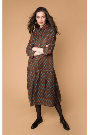 Платье «Ада» коричневого цвета