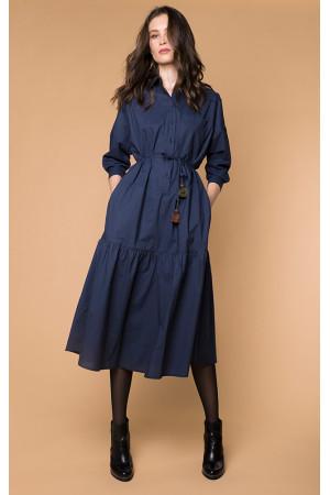 Платье «Изольда» синего цвета