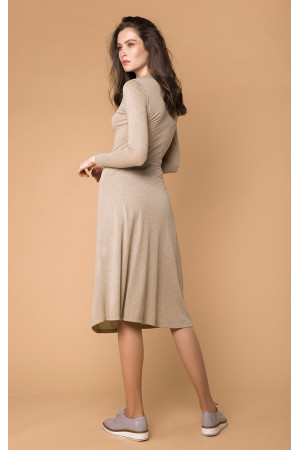 Платье «Гинвиле» бежевого цвета