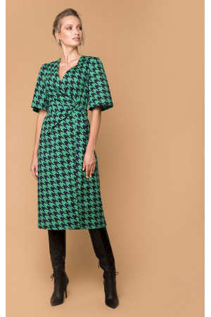 Платье «Илга» зеленого цвета