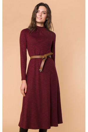 Платье «Реми» бордового цвета