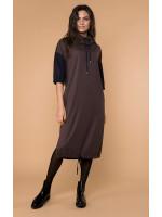 Платье «Трим» коричневого цвета
