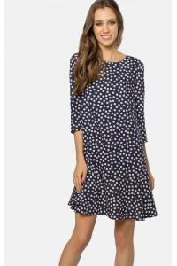 Сукня «Гарнет» синього кольору в горошок