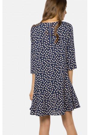 Платье «Гарнет» синего цвета в горошек