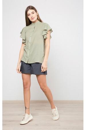 Рубашка «Солиэн» оливкового цвета