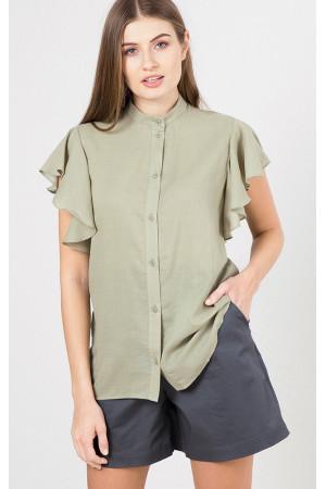 Сорочка «Соліен» оливкового кольору