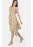 Сукня «Меммі» молочного кольору з жовтим принтом