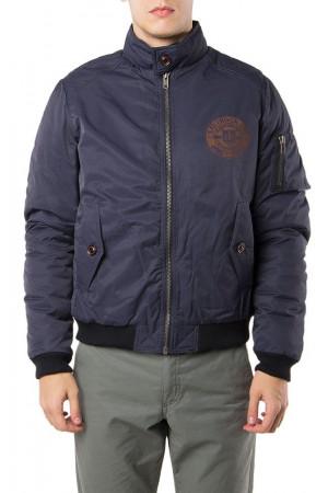 Мужская куртка-бомбер «Стив» синего цвета