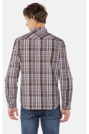 Мужская рубашка «Глеб» коричневого цвета