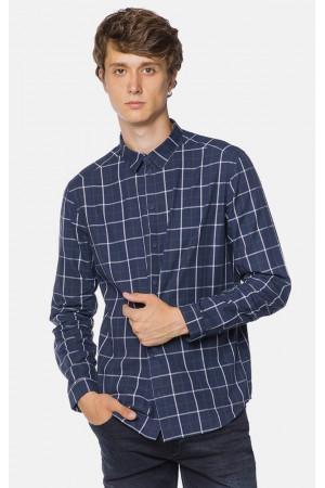 Мужская рубашка «Крис» синего цвета