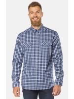 Чоловіча сорочка «Алекс» темно-синя клітинка