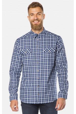 Мужская рубашка «Алекс» темно-синяя клетка