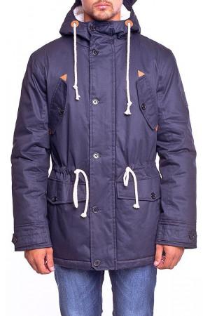 Чоловіча куртка-парка «Берти» темно-синього кольору
