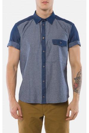 Чоловіча сорочка «Джеф» синього кольору