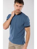 Мужское поло «Алекс» синего цвета