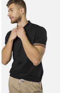 Мужское поло «Виктор» черного цвета