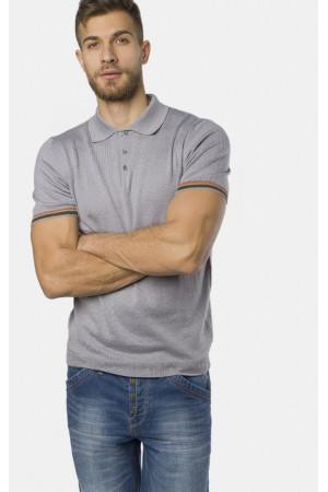 Мужское поло «Виктор» серого цвета
