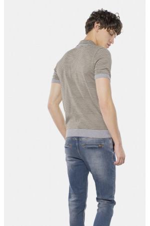 Чоловіче поло «Алвін» сірого кольору