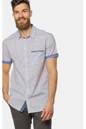 Мужская рубашка «Джед» голубого цвета