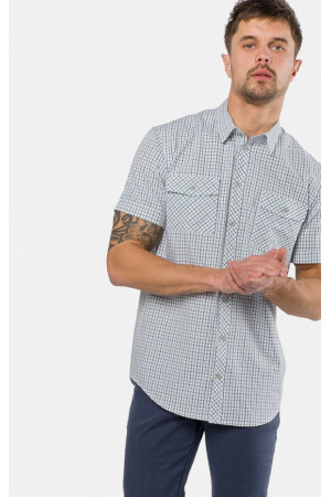 Мужская рубашка «Бруно» белого цвета в клеточку