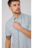 Чоловіча сорочка «Бруно» білого кольору в клітинку
