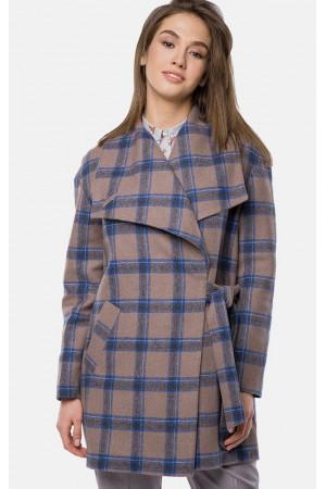"""Пальто женское """"Амали"""" коричневого цвета"""