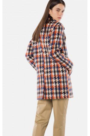 """Пальто жіноче """"Одрі"""" коричневого кольору"""
