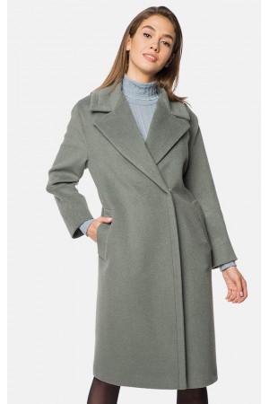 """Пальто женское """"Алисия"""" оливкового цвета"""