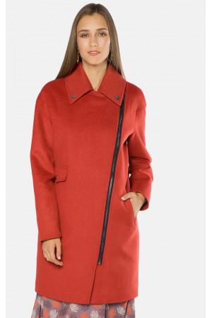 """Пальто женское """"Адели"""" красного цвета"""