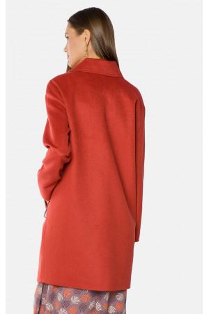 """Пальто жіноче """"Аделі"""" червоного кольору"""