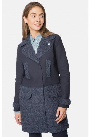 """Пальто женское """"Таяна"""" темно-синего цвета"""