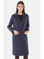 """Пальто женское """"Софи"""" синего цвета в клетку"""