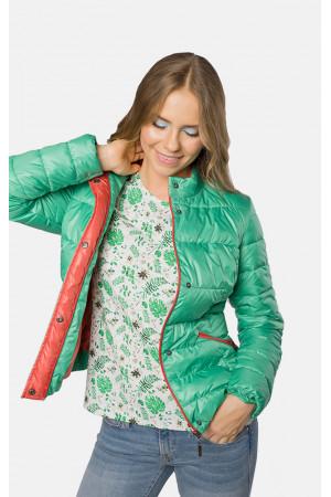 """Куртка жіноча """"Аліка"""" зеленого кольору"""