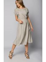 Платье «Ясмин» оливкового цвета