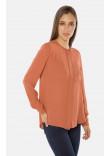 Блуза «Марса» теракотового кольору