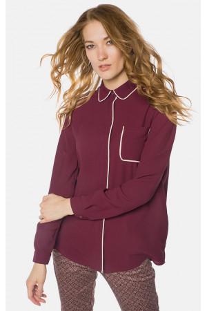 Блуза «Саванна» цвета бургунди