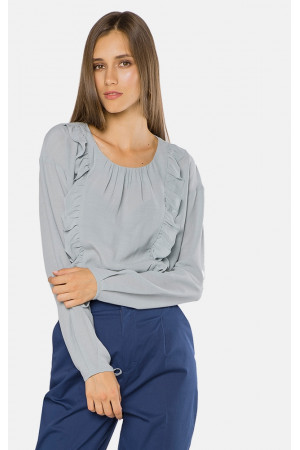 Блуза «Роузи» голубого цвета